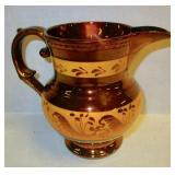 Copper Lustre Pitcher