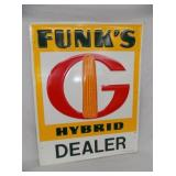 NOS 23X29 EMB FUNKS DEALER SIGN