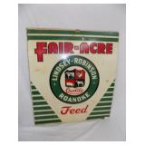 16X18 FAIR ACRE FEED MASONITE SIGN