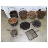 CAST POTS, PANS AND OTHER