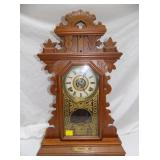 WALNUT KITCHEN CLOCK W/ LEVEL