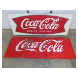 25X67  COCA COLA SLED SIGN