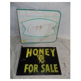 COCA COLA AND HONEY FLANGE SIGNS