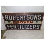 35X70 ROBERTSONS FERTILIZER SIGN
