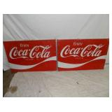 2 36IN COKE SIGNS
