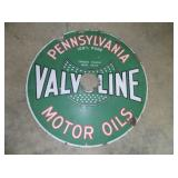 30IN PORC VALVOLINE SIGN