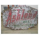 5FTX8FT PORC ASHLAND OIL SIGN