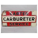 14X32 CARTER CARBURETER SIGN