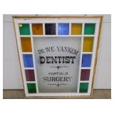 40X45 STAIN GLASS DENTIST WINDOW