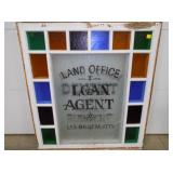 40X45 STAINED GLASS AGENT WINDOW
