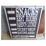 38X45 LIGHTED DIRECTIONAL SIGN