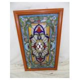 23X37 STAINED GLASS WINDOW