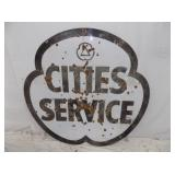 47X47 PORC CITIES SERVICE CLOVER SIGN