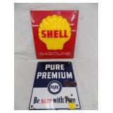 SHELL AND PURE PUMP PLATES