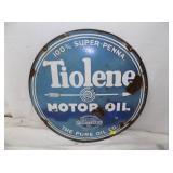 24IN PORC TIOLENE OIL SIGN