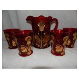 RUBY RED MOSER WATER SET