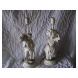 PAIR OF MAN/WOMAN FIGURAL LAMPS