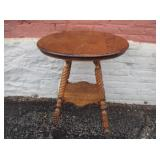 BALL AND CLAW FOOT OAK CENTER TABLE