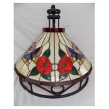 26IN HANGING STAIN GLASS LIGHT