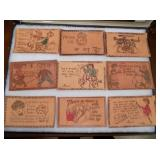 NOS LEATHER POST CARDS