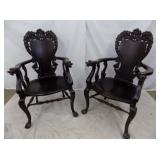 3RD VIEW MATCHING CHAIRS,CLAW FEET