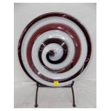 24IN ART GLASS END OF DAY CHARGER