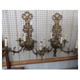 21IN MATCHING PAIR CANDLE SCONCES