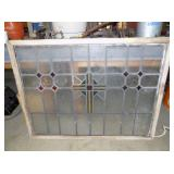 38X49 LEADED GLASS WINDOW