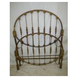 UNUSUAL EARLY OVAL IRON BED