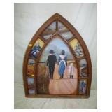 41X48 HAND PAINTED STEEPLE WINDOW