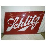 55X90 METAL SCHLITZ SIGN