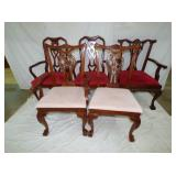 5 MATCHING CHIPNDALE STYLE CHAIRS