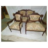 3PC WALNUT PARLOR SET