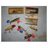 VARIOUS FISHING LURES SOME W/ BOXES
