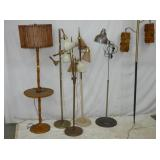 SEVERAL MID CENTURY FLOOR LAMPS