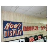 LARGE 1961 RAMBLER BANNER SIGN