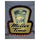 20X24 LIGHTED MILLER SIGN