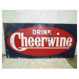 47X95 EARLY CHEERWINE SIGN