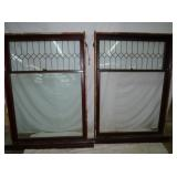 48X72 PAIR LEADED GLASS WINDOWS