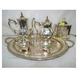 SILVERPLATE SERVING SET