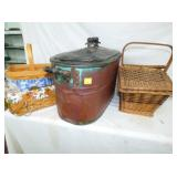 LONGABERGER BASKET/COPPER BOILER