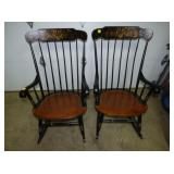 2 MATCHING HAYWOOD WAKEFIELD CHAIRS