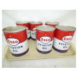 1QT. OLD STOCK ESSO AVIATION OIL