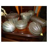 EARLY TIN PUDDING MOLDS