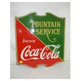 23X26 PORC. COKE FOUNTAIN SERVICE