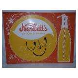 RARE 35X47 EMB NESBITTS DRINK SIGN