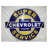 2ND VIEW OTHERSIDE ORIG SUPER CHEVY SIGN