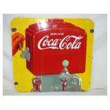25X26 PORC COCA COLA FOUNTAIN SIGN
