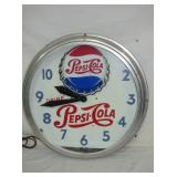 2ND VIEW PEPSI NEON CLOCK