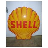 48IN PORC CLAM SHELL SIGN